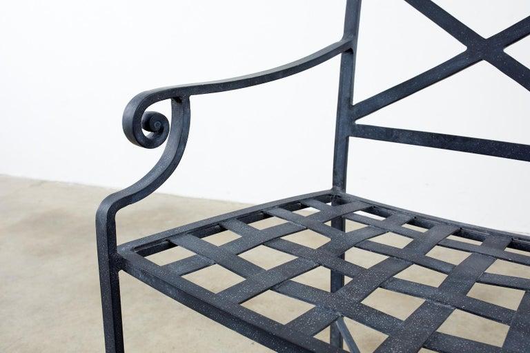 Set of Sixteen Brown Jordan Venetian Patio Dining Armchairs For Sale 5