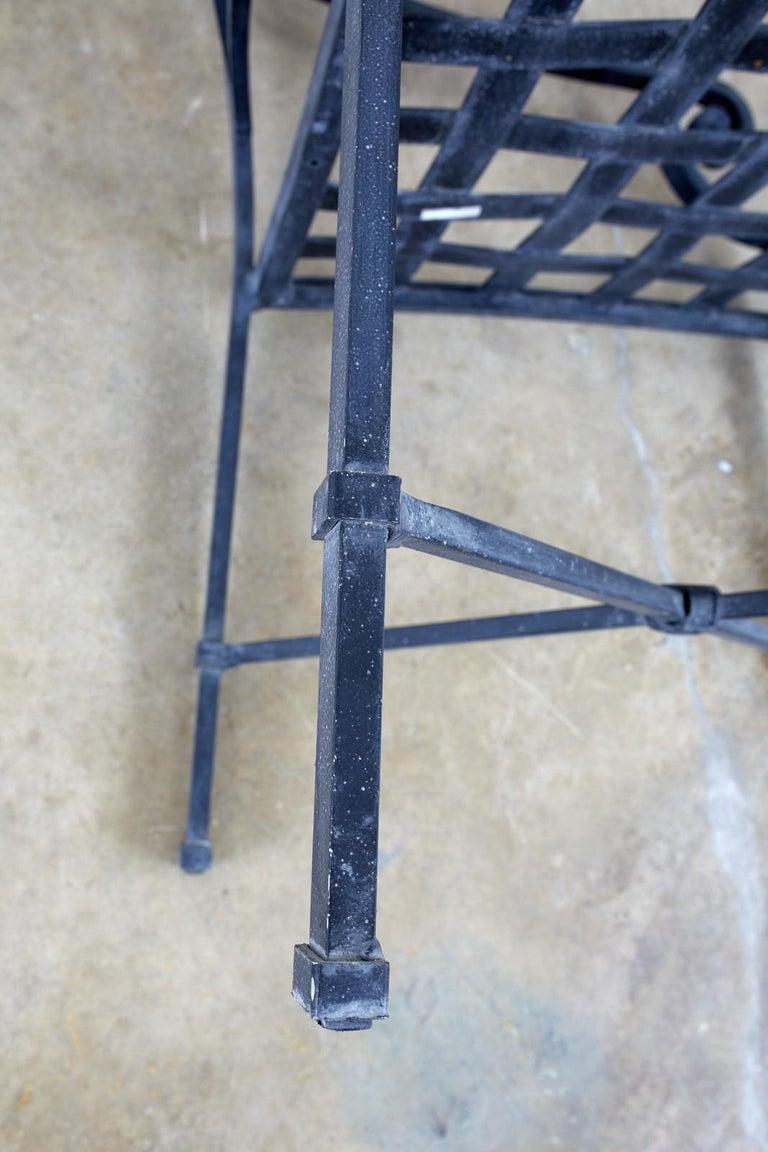 Set of Sixteen Brown Jordan Venetian Patio Dining Armchairs For Sale 8