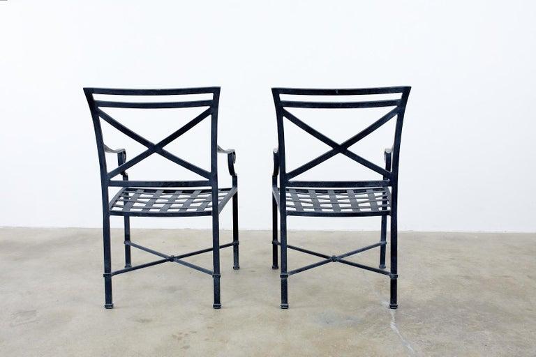 Set of Sixteen Brown Jordan Venetian Patio Dining Armchairs For Sale 9