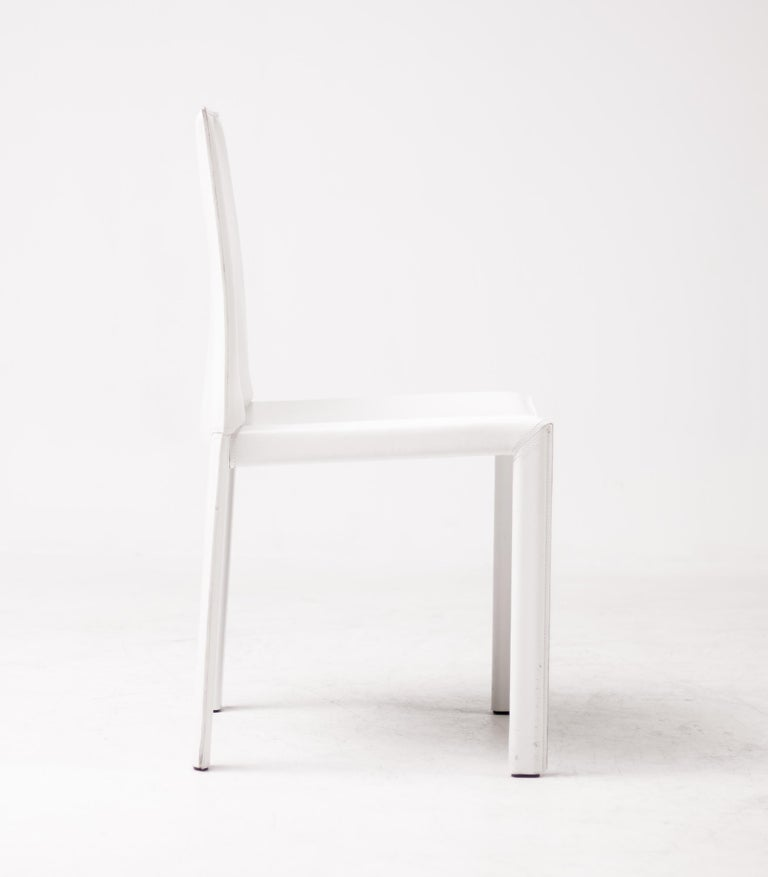 Steel Set of Sixteen Dining Chairs by Grazzi and Bianchi for Enrico Pellizzoni For Sale