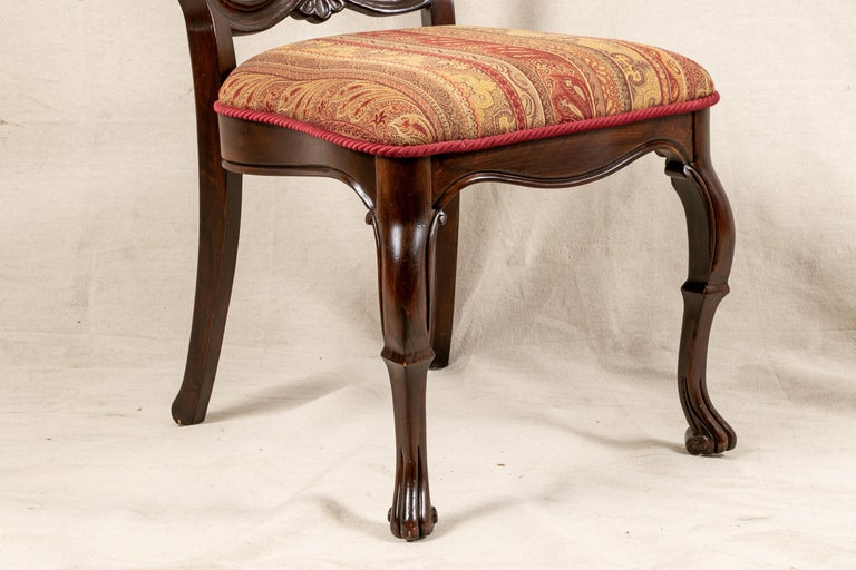 Set Of Sixteen Vintage Mahogany Georgian Style Dining Chairs For Sale 7