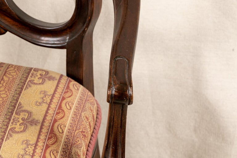 Set Of Sixteen Vintage Mahogany Georgian Style Dining Chairs For Sale 13