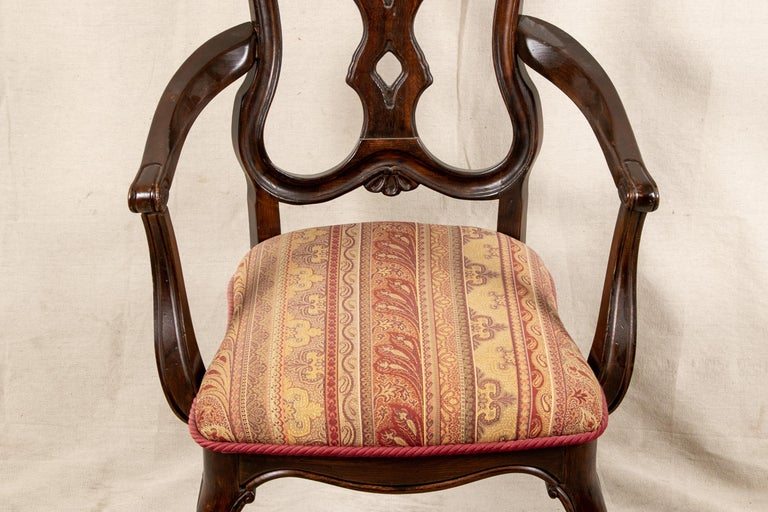 20th Century Set Of Sixteen Vintage Mahogany Georgian Style Dining Chairs For Sale