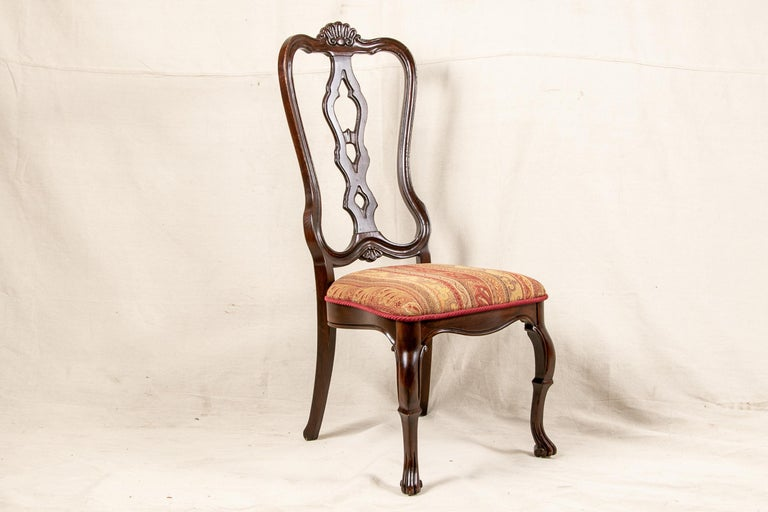 Set Of Sixteen Vintage Mahogany Georgian Style Dining Chairs For Sale 2