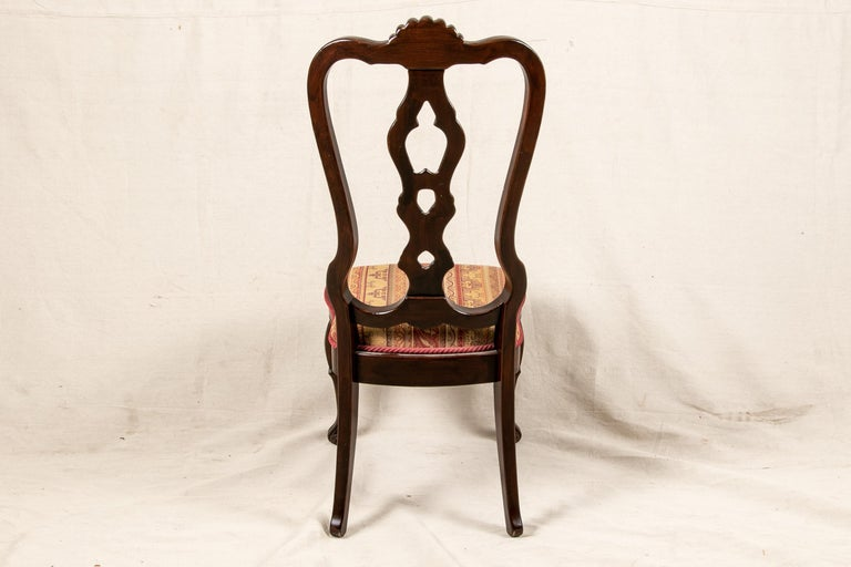 Set Of Sixteen Vintage Mahogany Georgian Style Dining Chairs For Sale 3