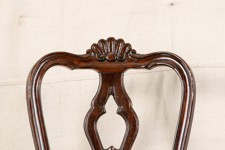 Set Of Sixteen Vintage Mahogany Georgian Style Dining Chairs For Sale 4