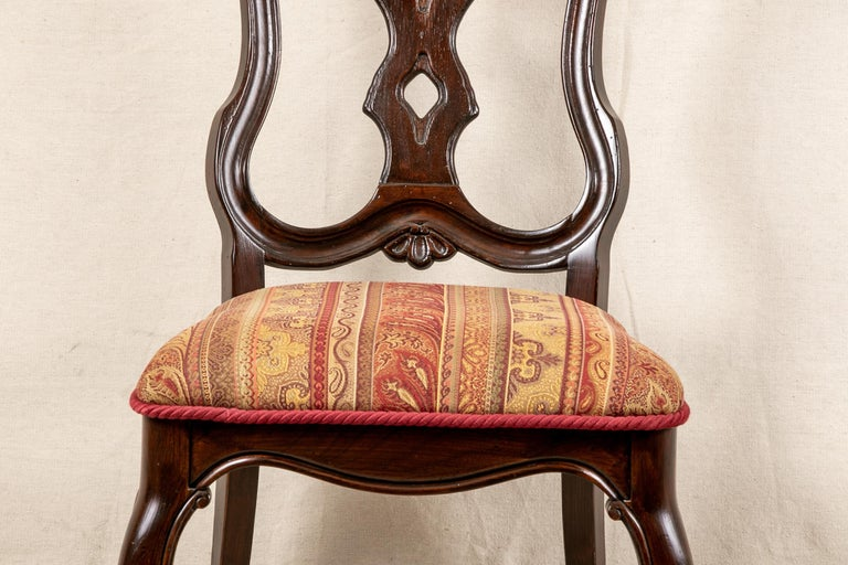 Set Of Sixteen Vintage Mahogany Georgian Style Dining Chairs For Sale 5