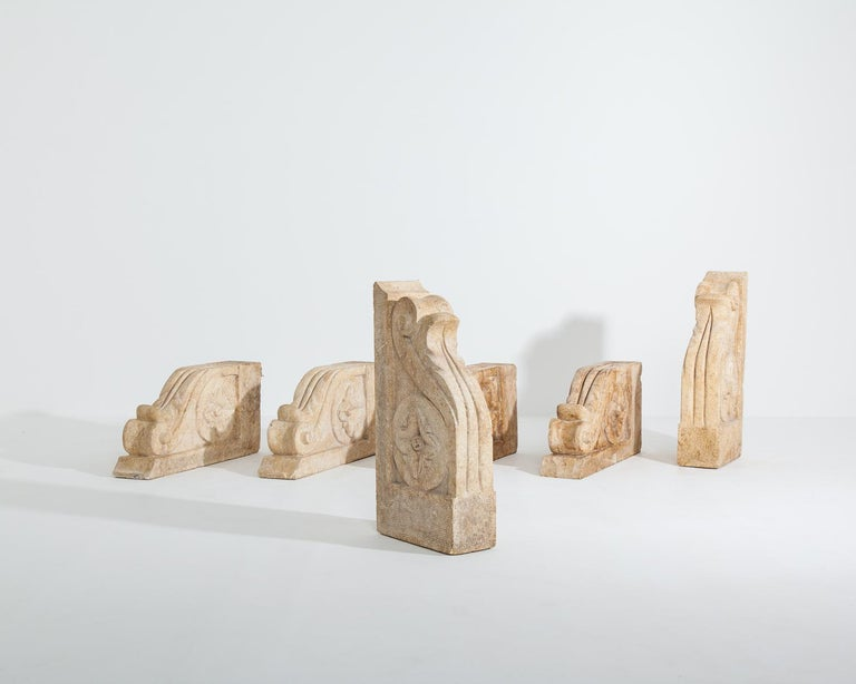 Set of Large 18th-19th Century Stone Corbels, Architectural Antiques For Sale 1