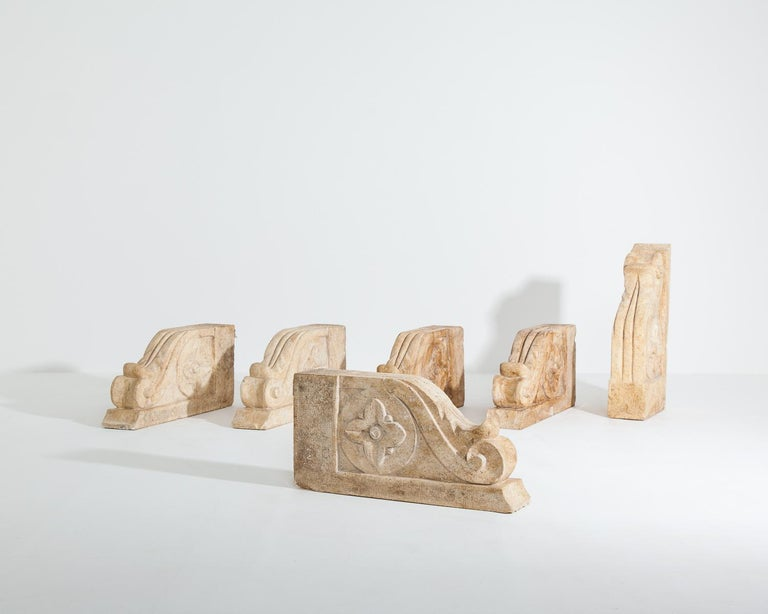 Set of Large 18th-19th Century Stone Corbels, Architectural Antiques For Sale 4
