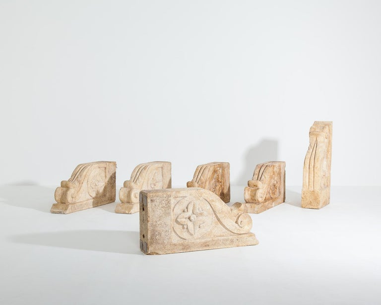 Set of Large 18th-19th Century Stone Corbels, Architectural Antiques For Sale 5