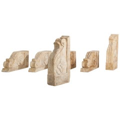 Set of Large 18th-19th Century Stone Corbels, Architectural Antiques