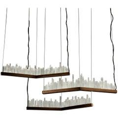 Set of Skykine, White Quartz Pendant Lamps