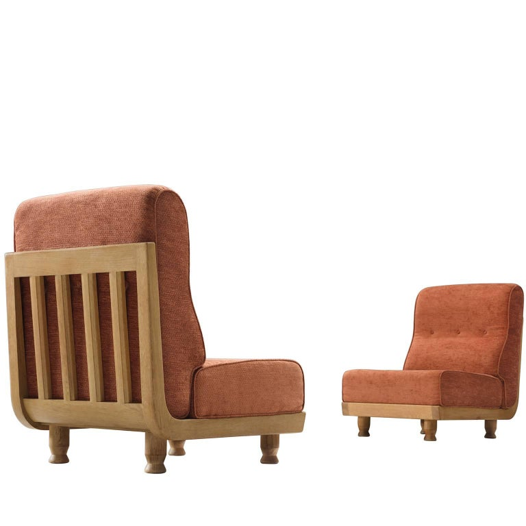 Set of Slipper Chairs by Guillerme and Chambron