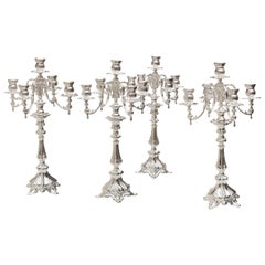 Set of Sliver Candelabras, French, Late 19th Century