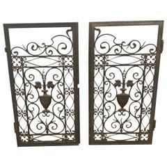 Set of Small Bronze Gates / Windows