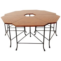 Set of Small Formica Tables Flower