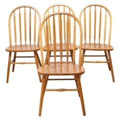 Set of Spindle Back Dining Chairs, circa 1950