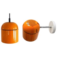 Set of Spotlight and Pendant Lamp by Arnold Berges for Staff Leuchten, 1970s