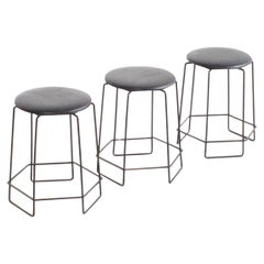 Set of Square Verner Panton Wire Stools, 1960s