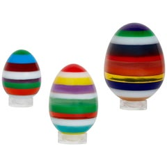 Set of Stacked Lucite Eggs