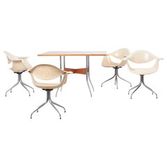 Set of Swaged Leg Dining Table and 4 Chairs by George Nelson for Herman Miller