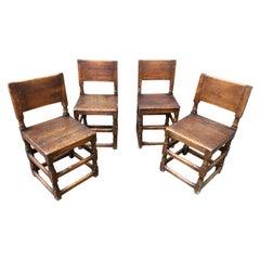 Set of Swedish Early 18th Century Folk Art Chairs