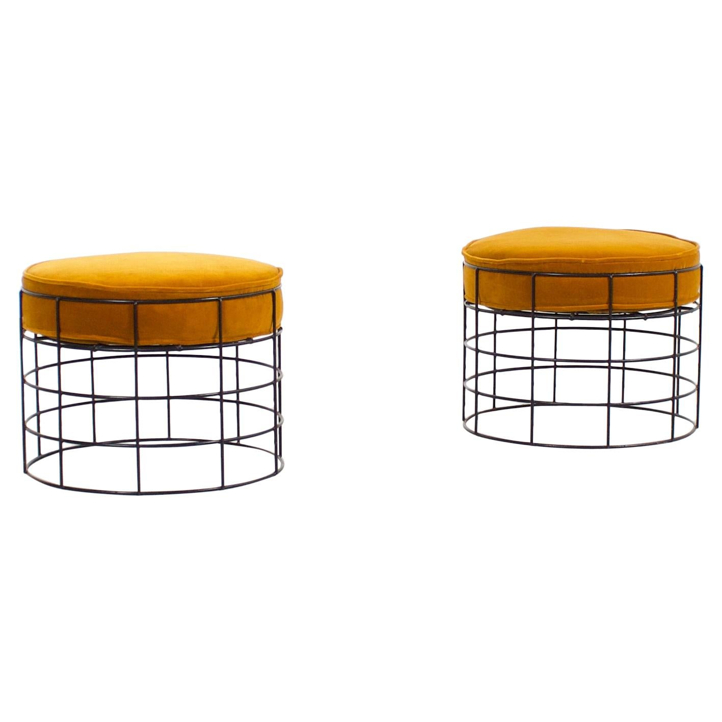 Set of T1 Wire Stools by Verner Panton, 1959