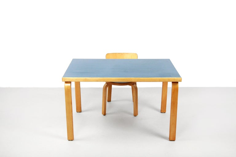 Set Of Table And Chair For Children By Alvar Aalto For