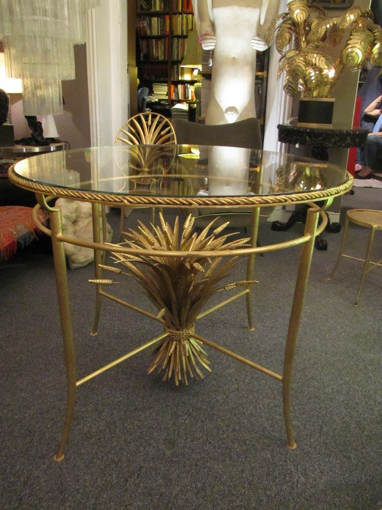 Italian Set of Table and Six Chairs by S. Salvadori, Firenze, circa 1960 For Sale