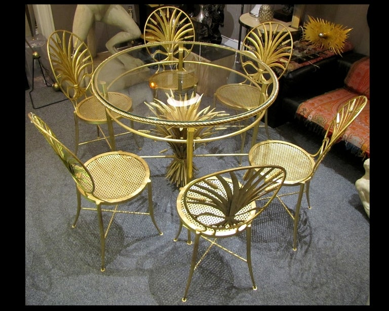 Set of Table and Six Chairs by S. Salvadori, Firenze, circa 1960 For Sale 3