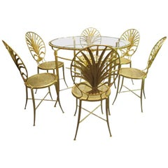 Set of Table and Six Chairs by S. Salvadori, Firenze, circa 1960