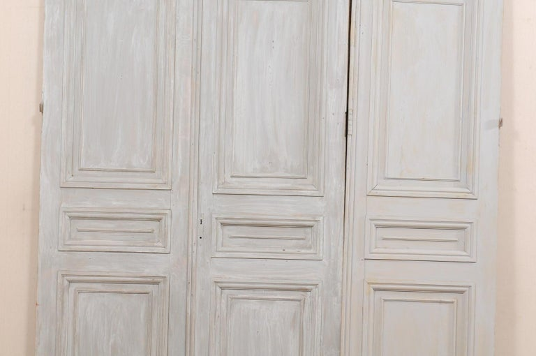 Set of Tall French 19th Century Carved Wood Doors For Sale 7