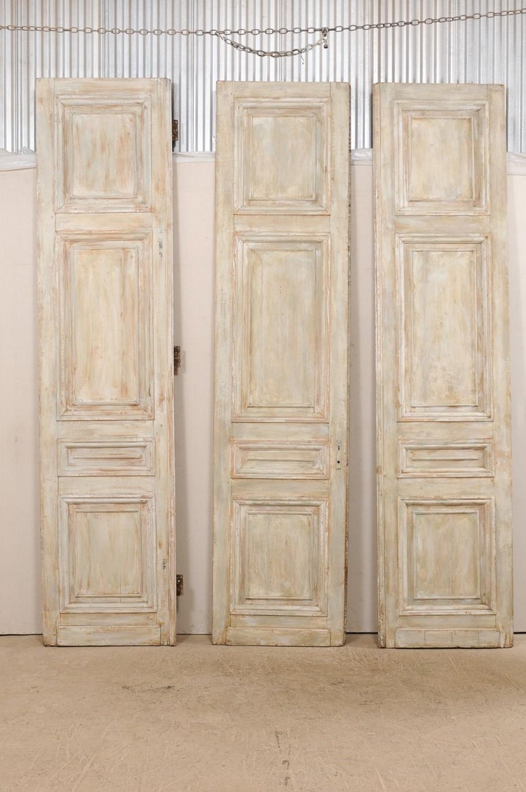 Set of Tall French 19th Century Carved Wood Doors In Good Condition For Sale In Atlanta, GA