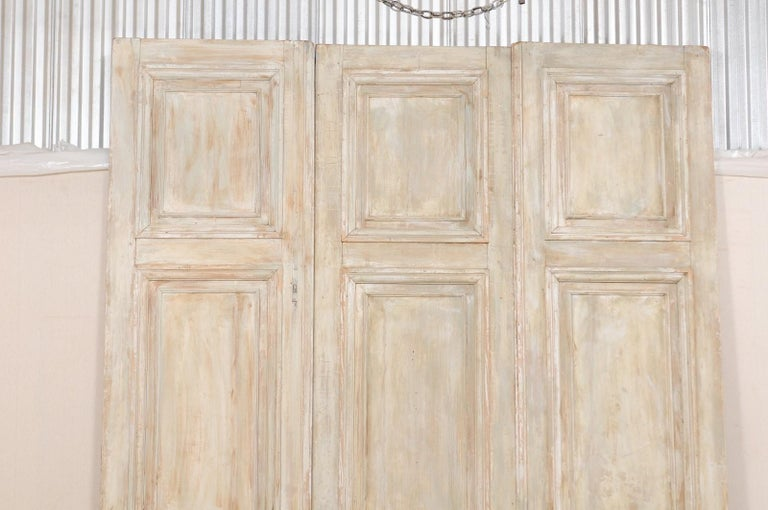 Set of Tall French 19th Century Carved Wood Doors For Sale 1