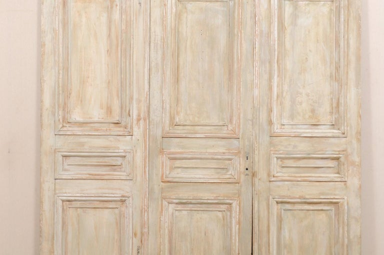 Set of Tall French 19th Century Carved Wood Doors For Sale 2