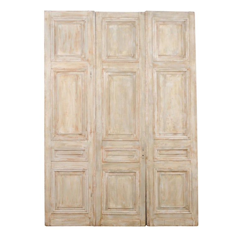 Set of Tall French 19th Century Carved Wood Doors For Sale