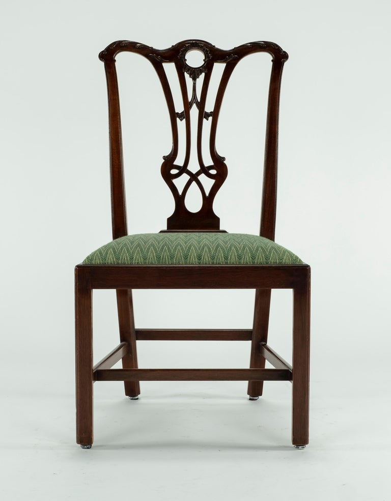 Set of Ten 18th Century Mahogany Dining Chairs For Sale 5