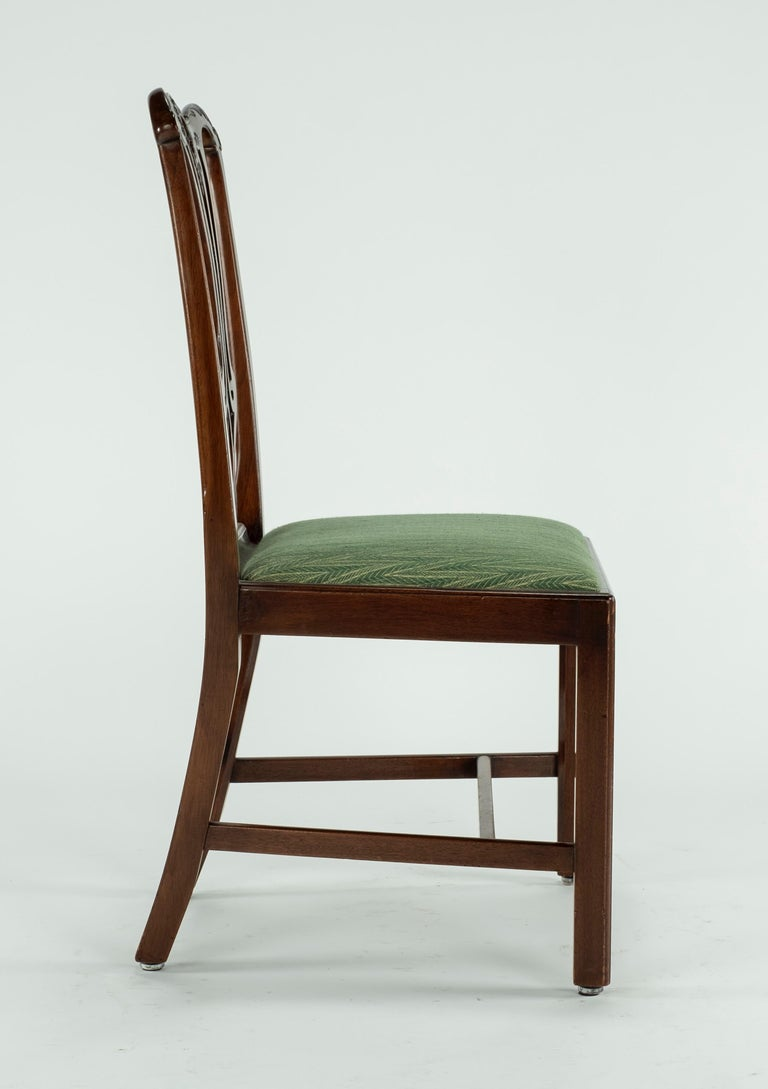 Set of Ten 18th Century Mahogany Dining Chairs For Sale 6