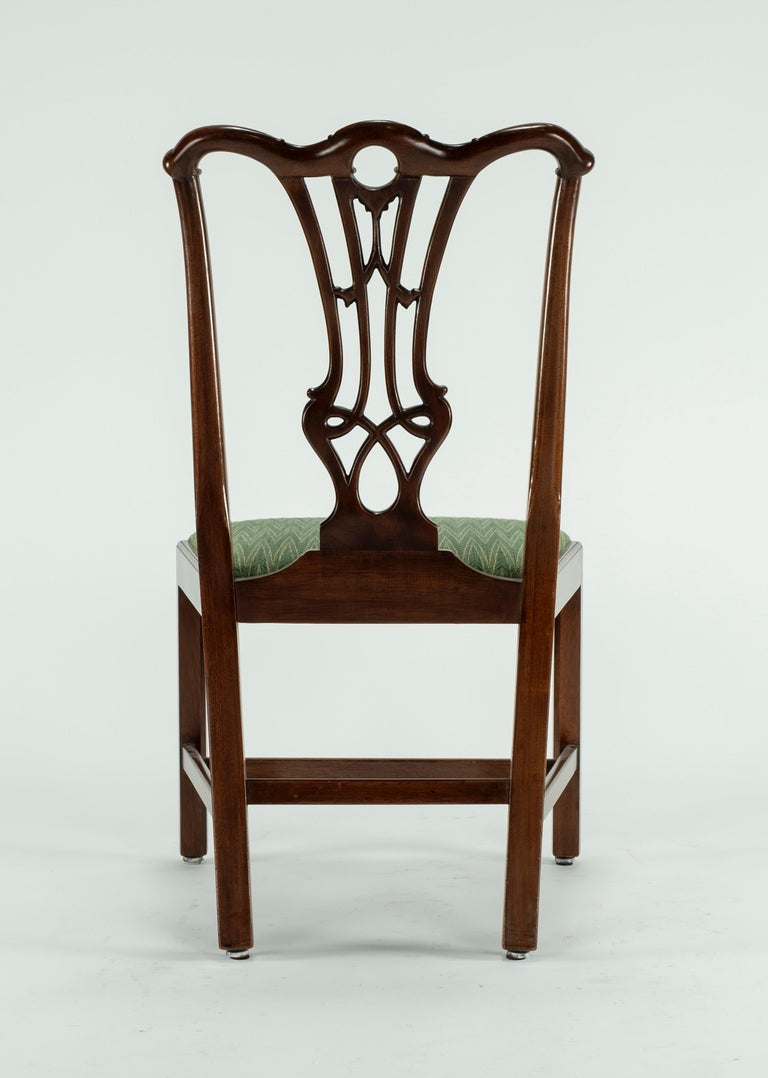Set of Ten 18th Century Mahogany Dining Chairs For Sale 7