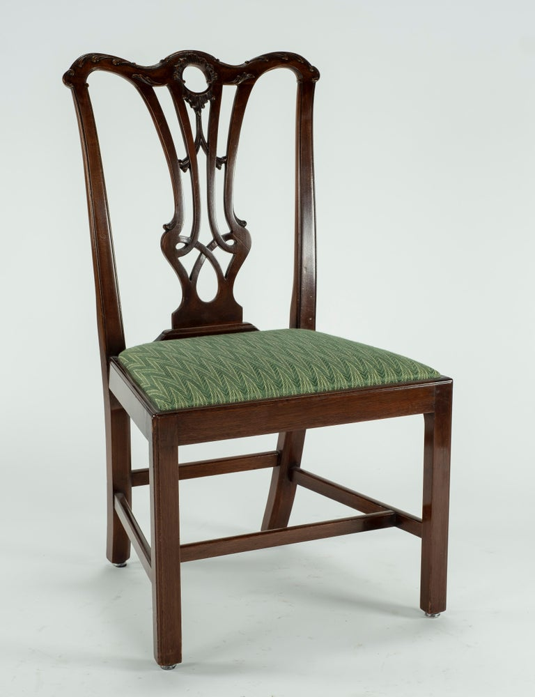 Set of Ten 18th Century Mahogany Dining Chairs For Sale 8