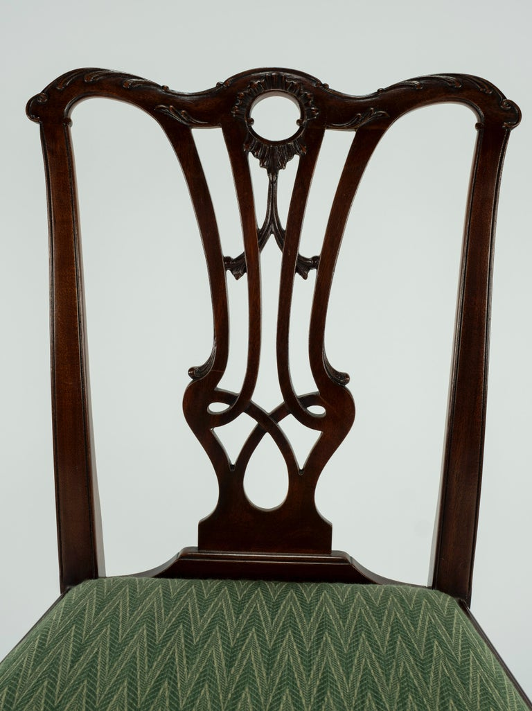 Set of Ten 18th Century Mahogany Dining Chairs For Sale 9