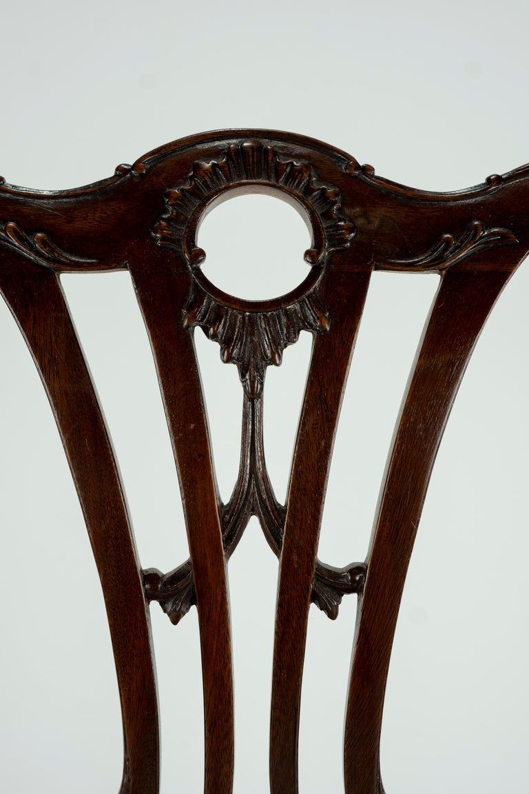 Set of Ten 18th Century Mahogany Dining Chairs For Sale 10