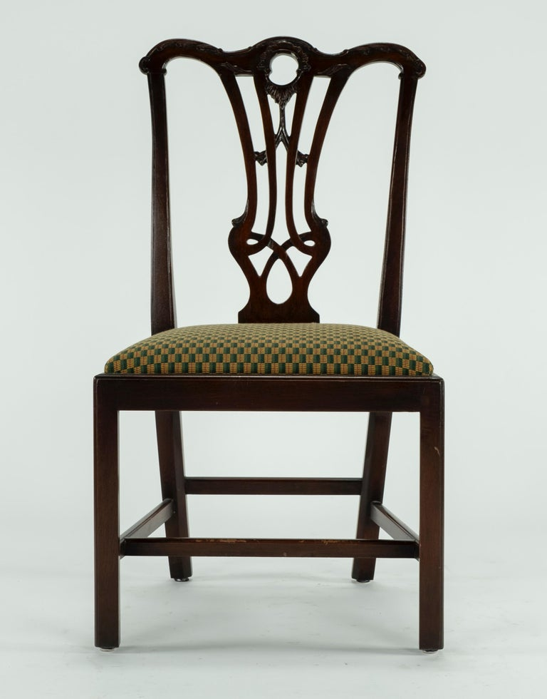 Set of Ten 18th Century Mahogany Dining Chairs For Sale 11