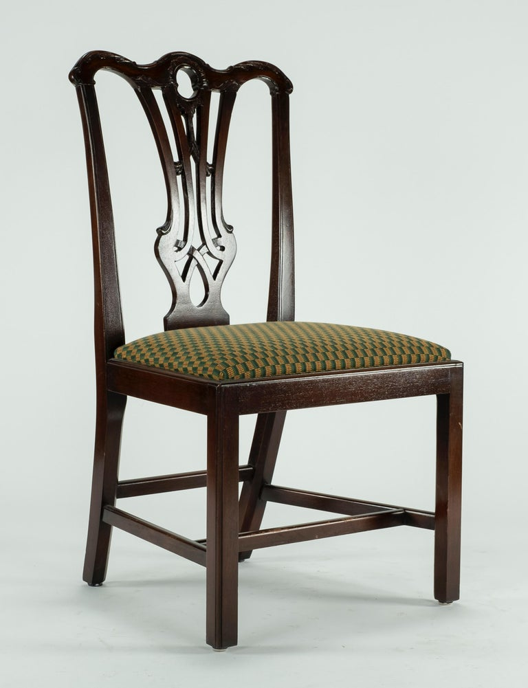 Set of Ten 18th Century Mahogany Dining Chairs For Sale 12