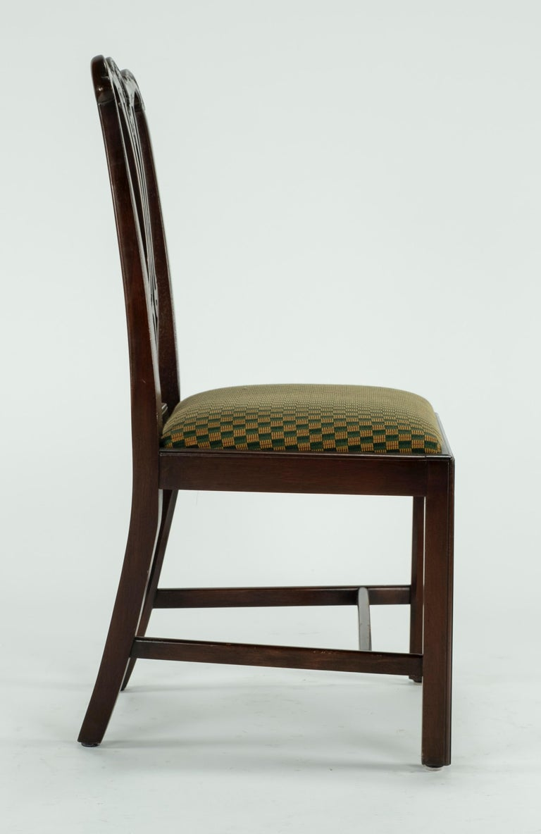 Set of Ten 18th Century Mahogany Dining Chairs For Sale 13