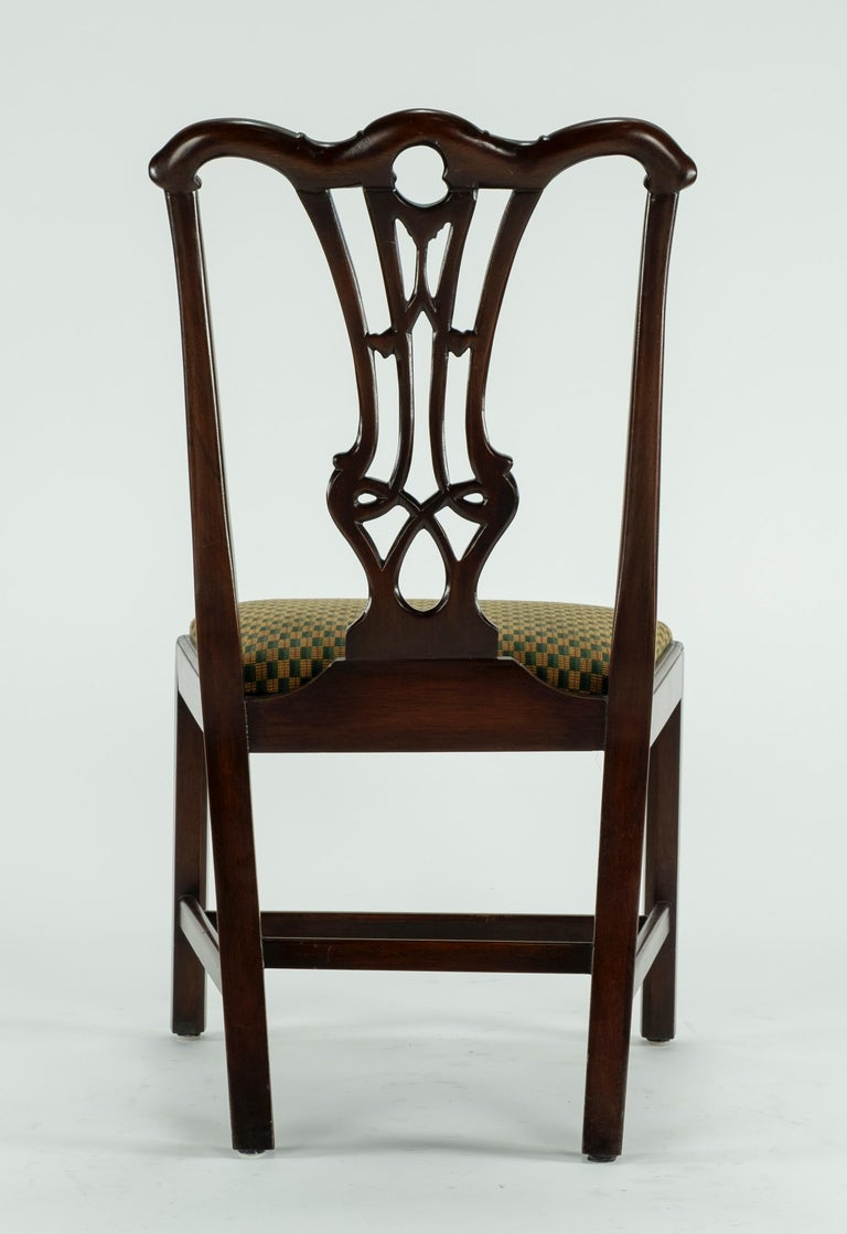 Set of Ten 18th Century Mahogany Dining Chairs For Sale 14