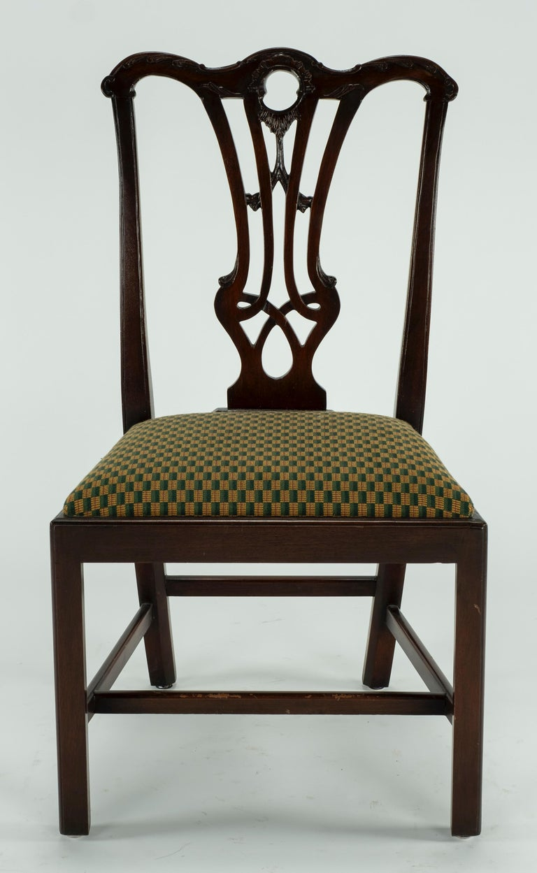 Set of Ten 18th Century Mahogany Dining Chairs For Sale 15