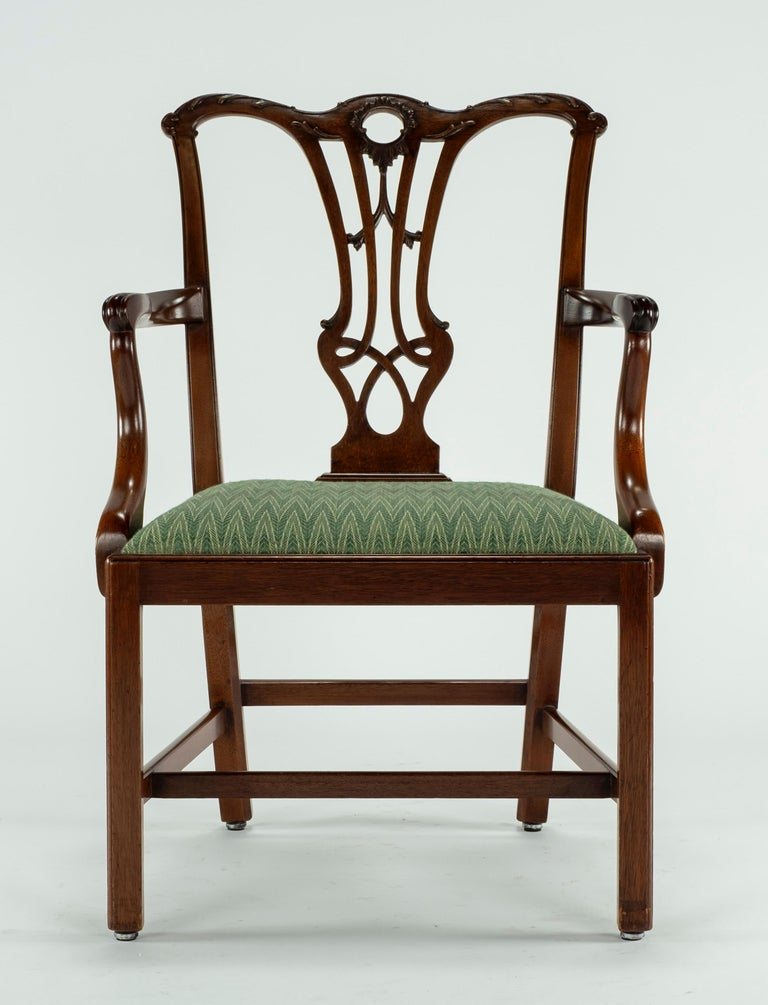 Chippendale Set of Ten 18th Century Mahogany Dining Chairs For Sale