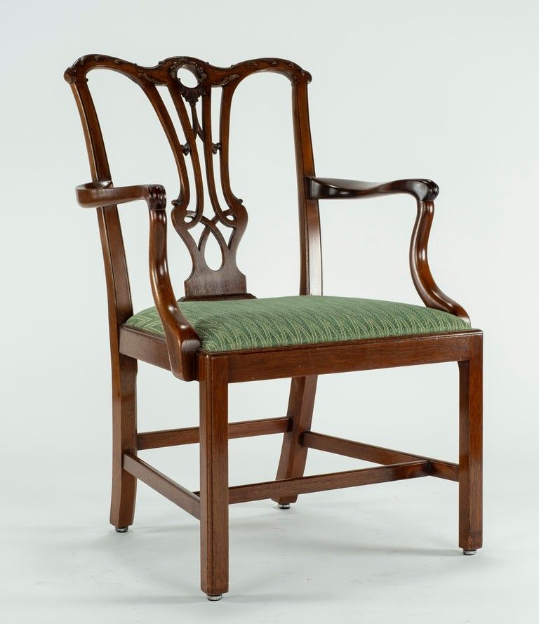 English Set of Ten 18th Century Mahogany Dining Chairs For Sale