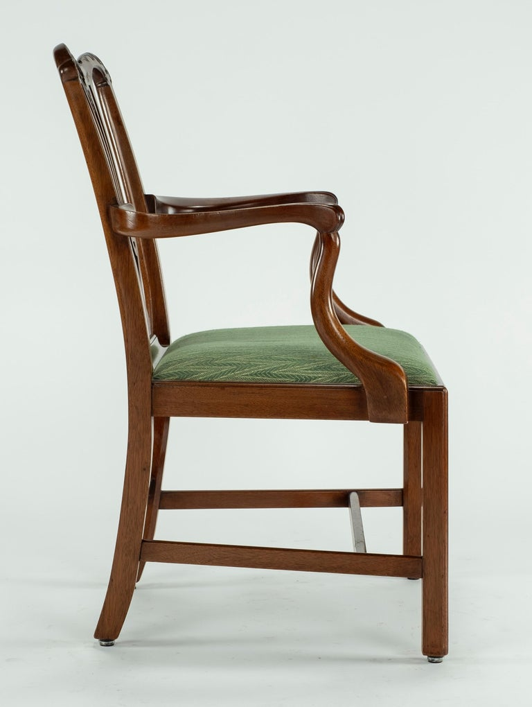 Set of Ten 18th Century Mahogany Dining Chairs In Good Condition For Sale In Houston, TX